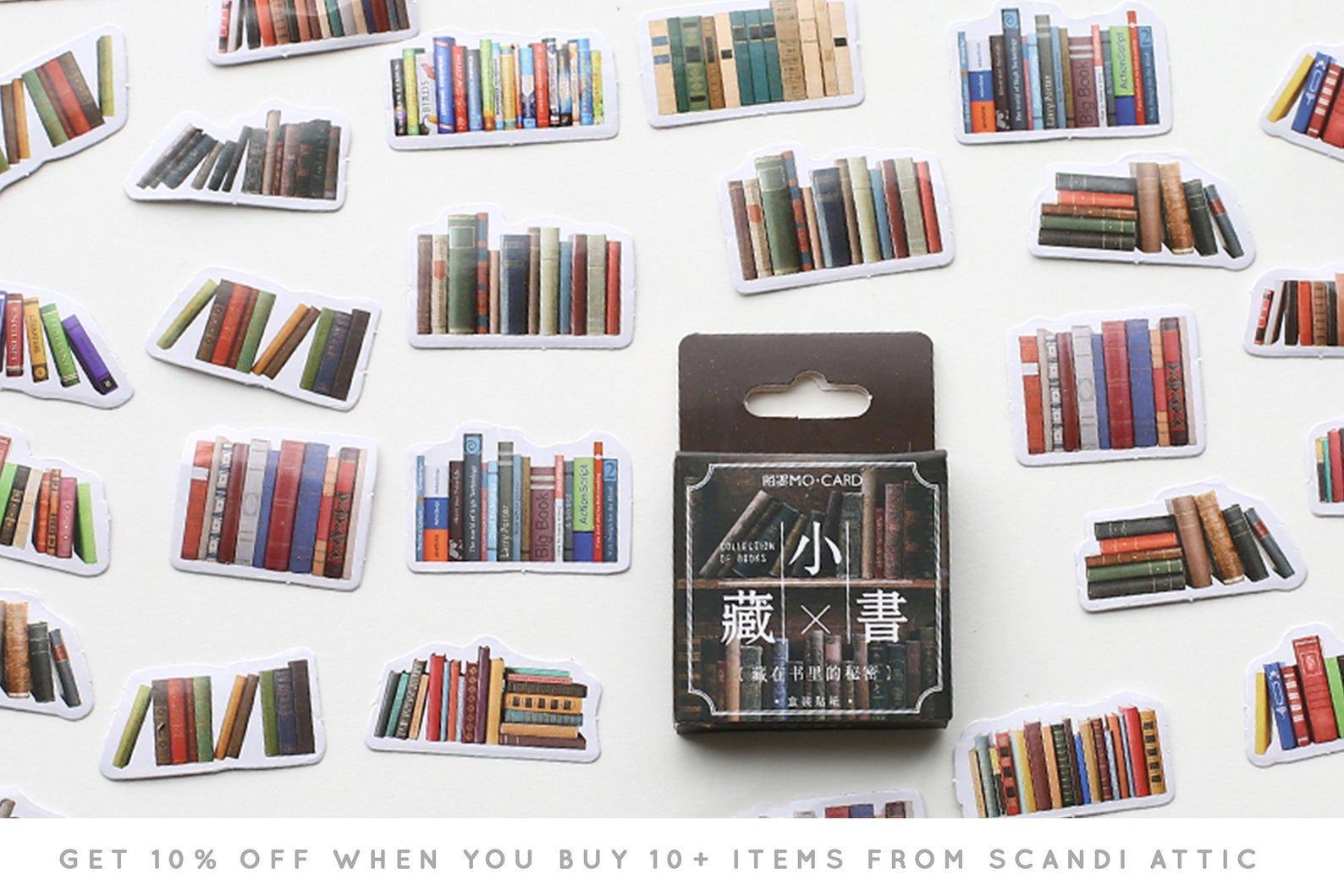 Assorted bookshelves