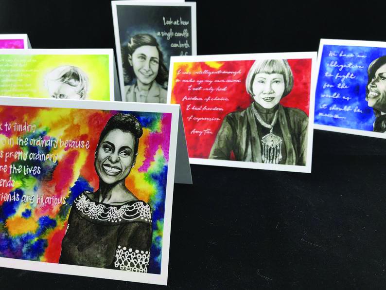 Strong women notecard set