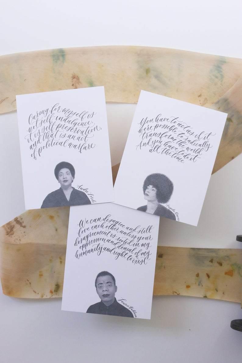 Black queer activist cards