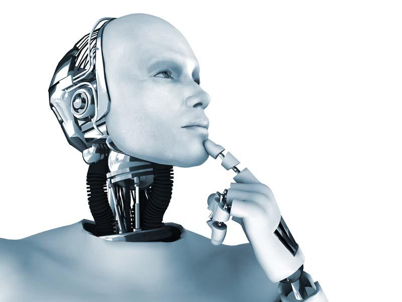 Male robot thinking about something - Cynthia Joyce essay