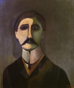 """Marcel Proust"" by Richard Lindner"