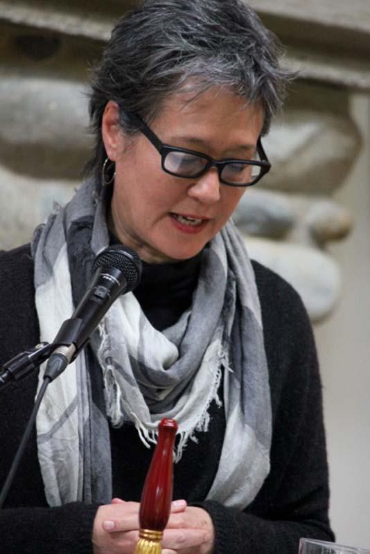 Ruth Ozeki leading meditation at Vortext.