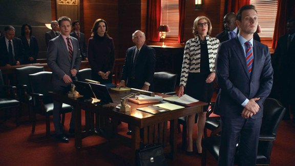 A character-packed courtroom allows the Kings to play with smart dialogue. Photo courtesy of CBS.