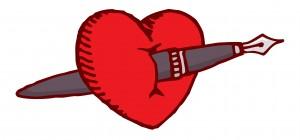 anti-love poems - poem through the heart