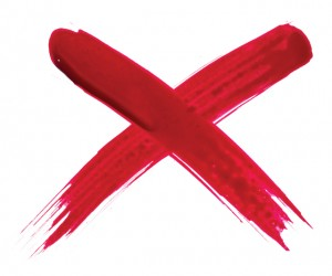 Red-painted-X