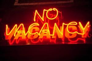 no vacancy sign - photo by Sarah Nichols via Flickr Creative Commons