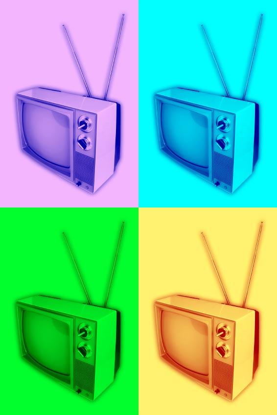 Pop art televisions