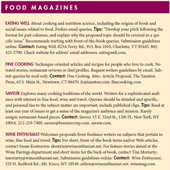 Food writing sidebar kirchner
