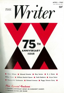 May Sarton April 1962 issue of The Writer