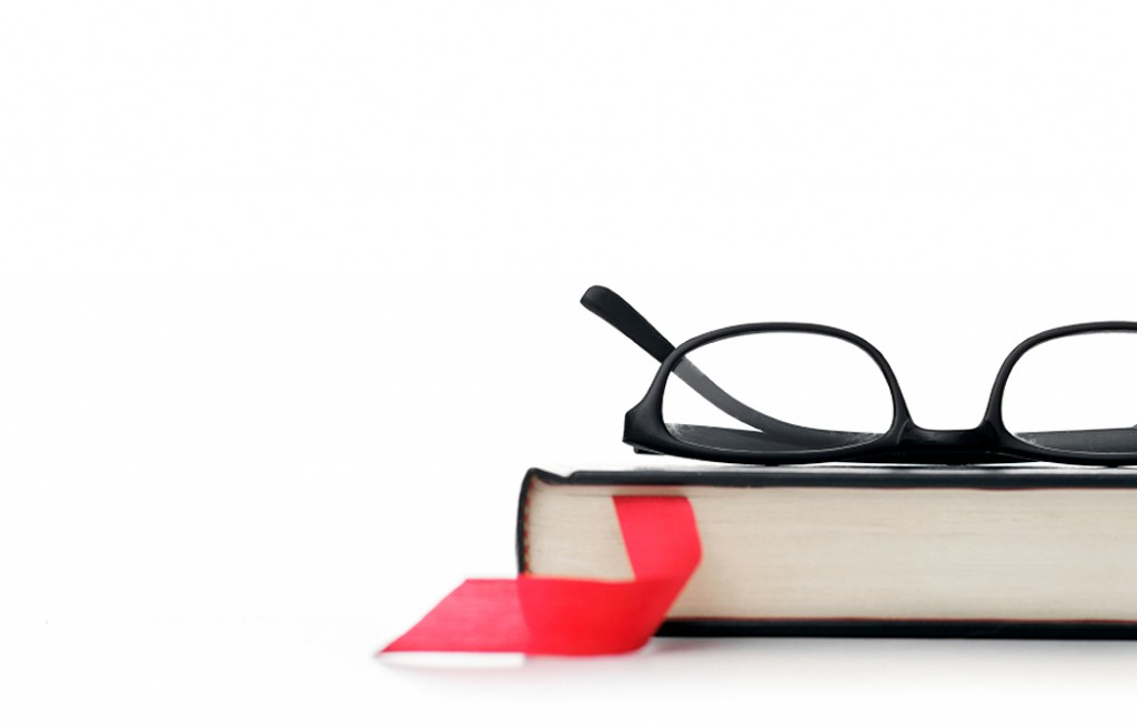 Glasses and a book - writing prompt