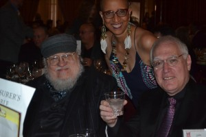 George R. R. Martin, Linda Addison, and Les Klinger at StokerCon 2017